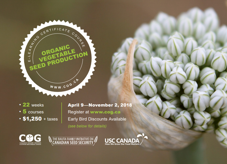 Organic Vegetable Seed Production E-Learning Certificate Course ...